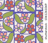 seamless pattern from squares... | Shutterstock .eps vector #1061261069