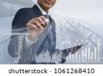 stock market analysis  business ... | Shutterstock . vector #1061268410