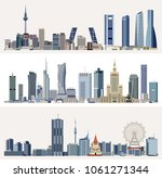 vector urban cityscapes with...   Shutterstock .eps vector #1061271344