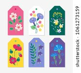 Six Summer Gift Tags With Viol...