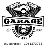 motorcycle logo template on... | Shutterstock .eps vector #1061273738