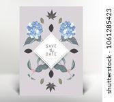 botanical greeting invitation... | Shutterstock .eps vector #1061285423