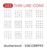 set of thin line icons... | Shutterstock .eps vector #1061288993