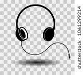 headphone sign icon  vector... | Shutterstock .eps vector #1061299214