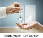 passing keys against backdrop... | Shutterstock . vector #106130159