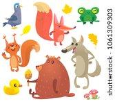 cartoon forest animals set. big ...   Shutterstock . vector #1061309303