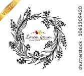 hand drawn vector floral... | Shutterstock .eps vector #1061309420