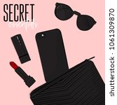 secret essentials flatlay ... | Shutterstock .eps vector #1061309870