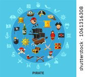 pirate attributes including... | Shutterstock .eps vector #1061316308