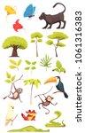 rain forest jungle inhabitants...   Shutterstock .eps vector #1061316383
