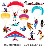 skydiving amd extreme sports...   Shutterstock .eps vector #1061316413