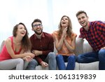 group of cheerful young people... | Shutterstock . vector #1061319839