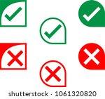cross mark icon  delete mark... | Shutterstock .eps vector #1061320820