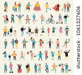 set of vector illustration in a ... | Shutterstock .eps vector #1061327606
