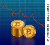 famous crypto currency bitcoin... | Shutterstock .eps vector #1061328566