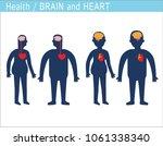 cartoon human body silhouette... | Shutterstock .eps vector #1061338340
