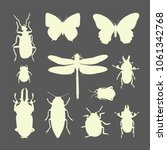 set of insects silhouettes  ... | Shutterstock .eps vector #1061342768