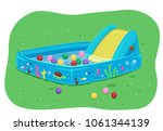 Illustration Of A Kid Pool Wit...