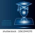 graduation man avatar in... | Shutterstock .eps vector #1061344193