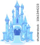 illustration of an ice castle... | Shutterstock .eps vector #1061344223
