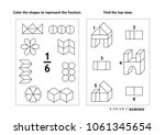 two visual math puzzles and... | Shutterstock .eps vector #1061345654