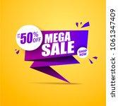 limited offer mega sale banner. ... | Shutterstock .eps vector #1061347409