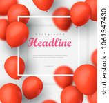 banner with balloons on the... | Shutterstock .eps vector #1061347430