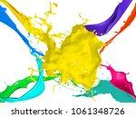 background color paint bucket... | Shutterstock . vector #1061348726