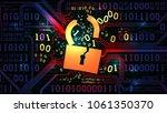 hacking abstract firewall ...   Shutterstock .eps vector #1061350370