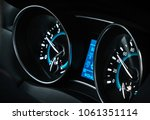 car dashboard in the cab | Shutterstock . vector #1061351114