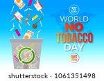 world no tobacco day   concept...   Shutterstock .eps vector #1061351498