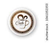 cafe round sign can be used as... | Shutterstock .eps vector #1061352353