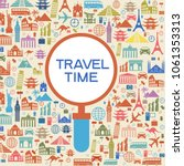 infographics elements  travel... | Shutterstock .eps vector #1061353313