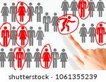 employee restructuring process... | Shutterstock . vector #1061355239