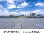 empty floor with panoramic... | Shutterstock . vector #1061355500