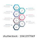 infographic template with 7... | Shutterstock .eps vector #1061357069