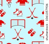 hockey vector background.... | Shutterstock .eps vector #1061357936