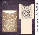 die laser cut wedding... | Shutterstock .eps vector #1061360294