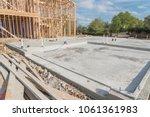 slab on grade foundation... | Shutterstock . vector #1061361983