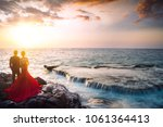 pre wedding couple and amazing...   Shutterstock . vector #1061364413