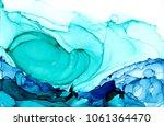 alcohol ink texture. fluid ink... | Shutterstock . vector #1061364470
