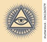 all seeing eye of god   the eye ... | Shutterstock .eps vector #1061365079