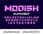 trendy style alphabet vector... | Shutterstock .eps vector #1061365373