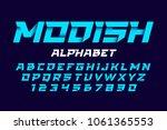 trendy style alphabet vector... | Shutterstock .eps vector #1061365553