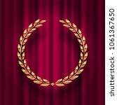 golden laurel wreath  against a ...   Shutterstock .eps vector #1061367650