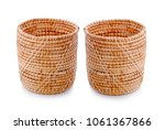 Basket Wicker On Isolated White ...