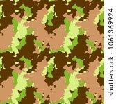 unusual ufo camouflage  ...   Shutterstock .eps vector #1061369924