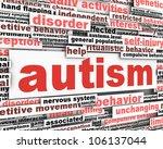 autism conceptual design.... | Shutterstock . vector #106137044