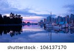 early sunrise light on a marina ... | Shutterstock . vector #106137170