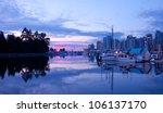early sunrise light on a marina ... | Shutterstock . vector #106137170
